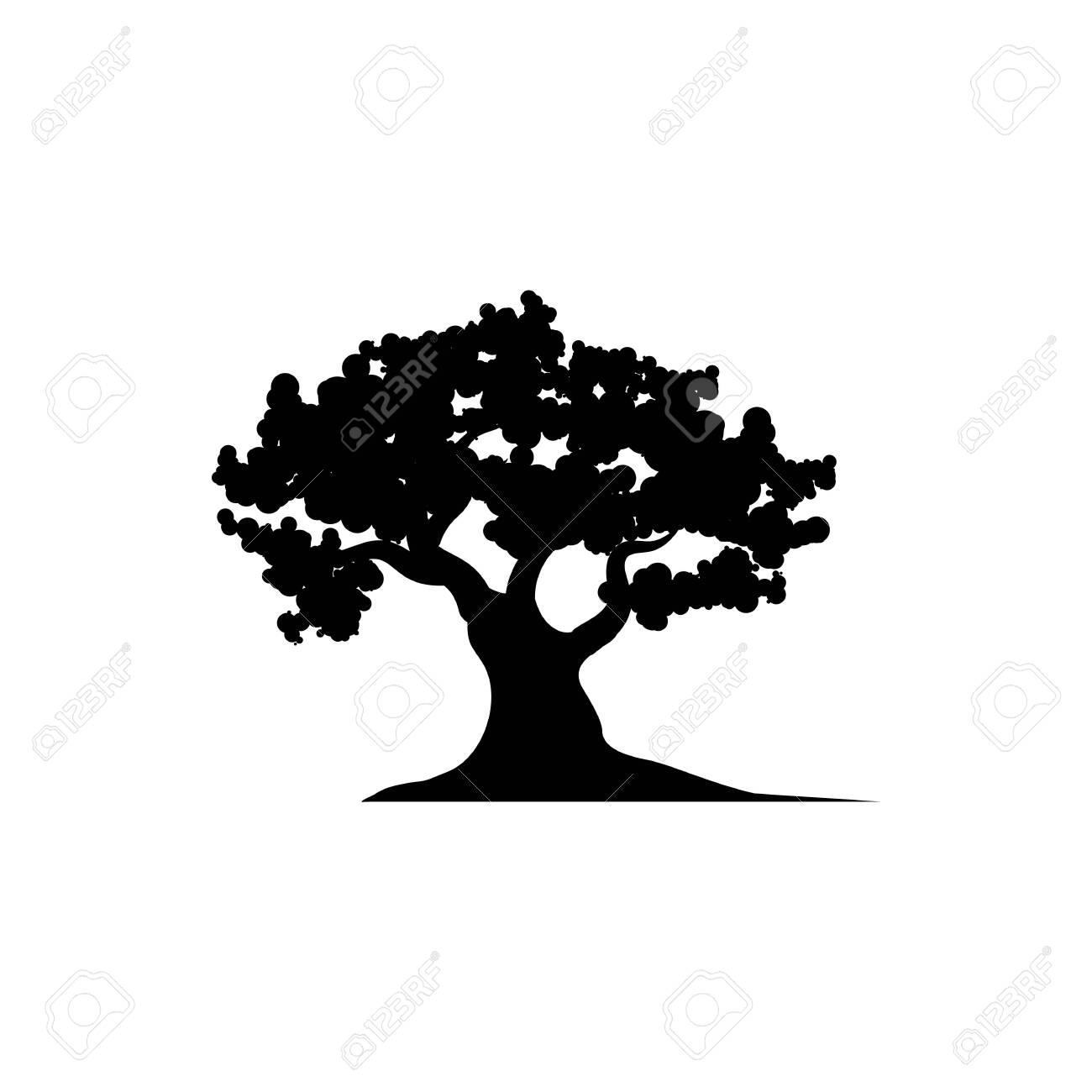 Oak Tree icon Vector Illustration design Logo template - 135981400