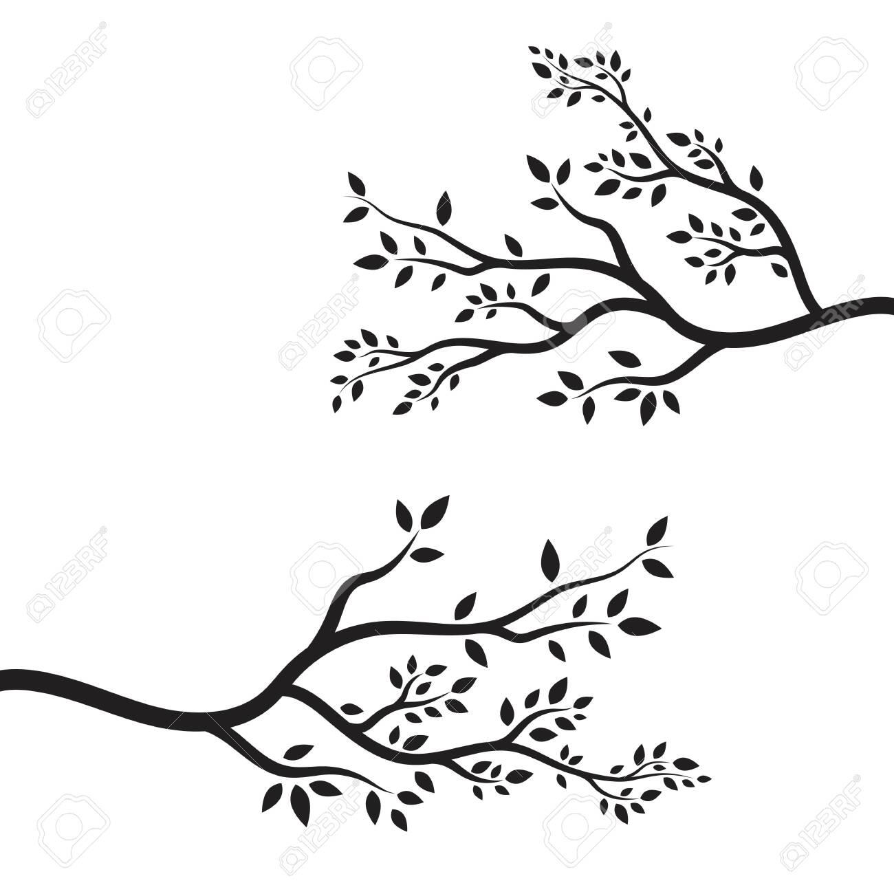 tree branch vector ilustration design template - 144957698