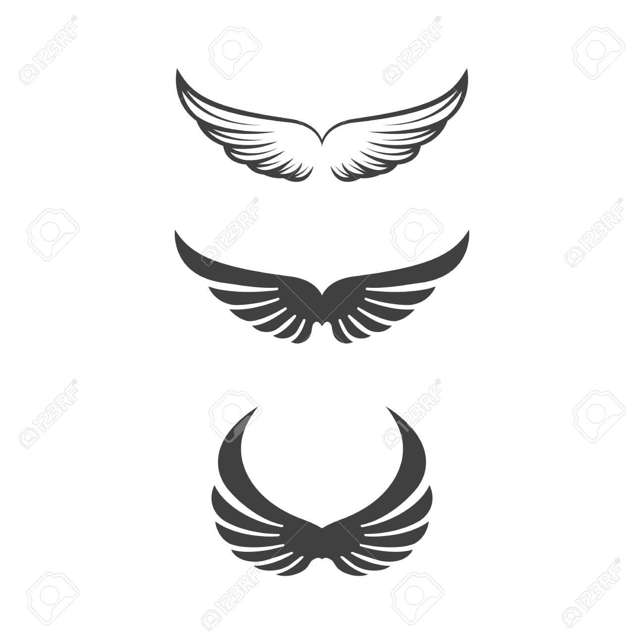 Falcon wing icon Template vector illustration design - 149835834