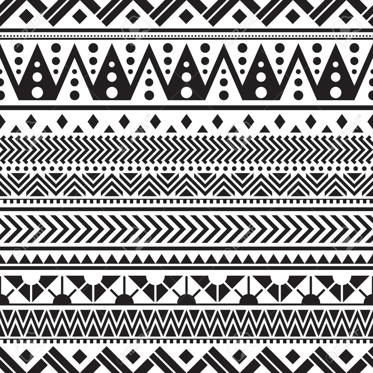 Tribal seamless pattern geometric seamless aztec pattern design - 154310430