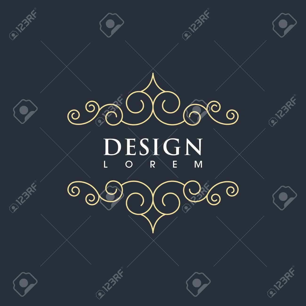 Vintage border line Template vector illustration design - 154672826