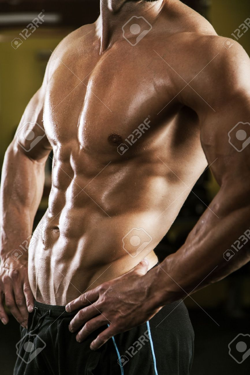 Muscular Male Torso Stock Photo Picture And Royalty Free Image