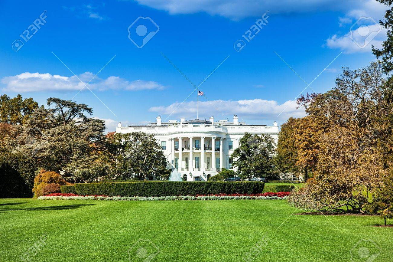 The White House View From The South Home Of The President Of Stock Photo Picture And Royalty Free Image Image 18345737