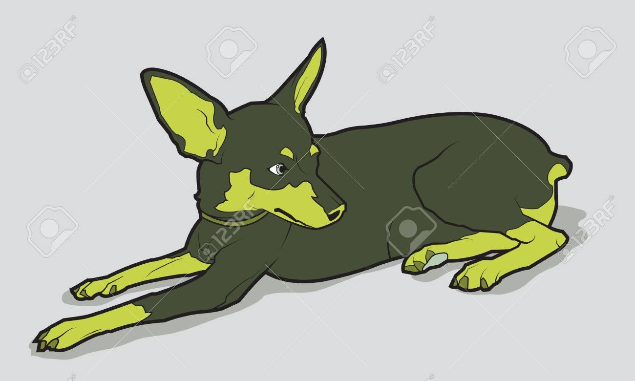 Perro Lindo De La Casta Chihuahua. Ilustración Vectorial ...