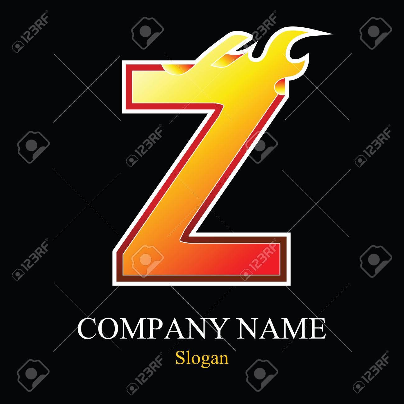 Z letter fire logo design template  Vector design template elements