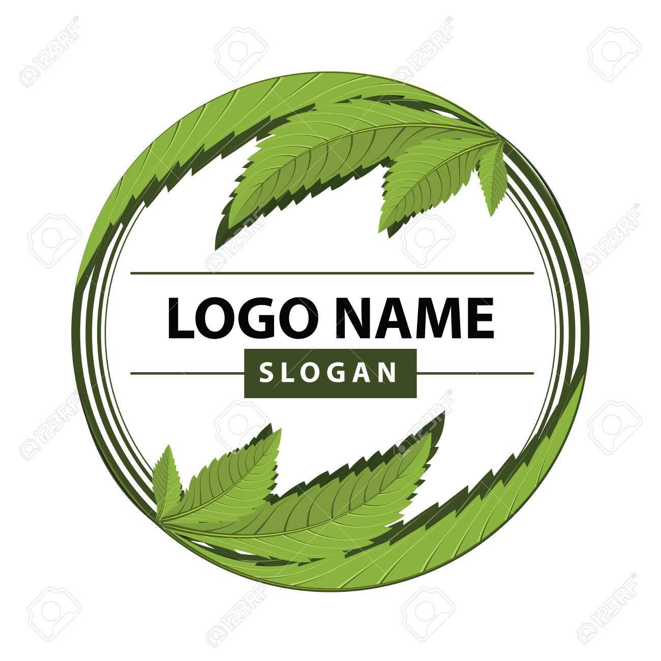 medical marijuana, cannabis green leaf logo. vector illustration. - 85021764