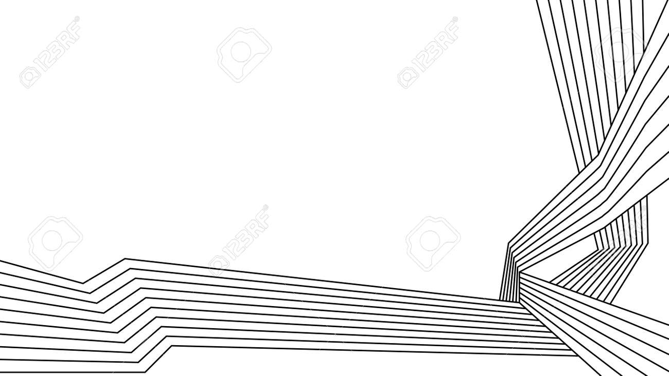 black and white stripe line abstract graphic background. vector illustration. - 156344174