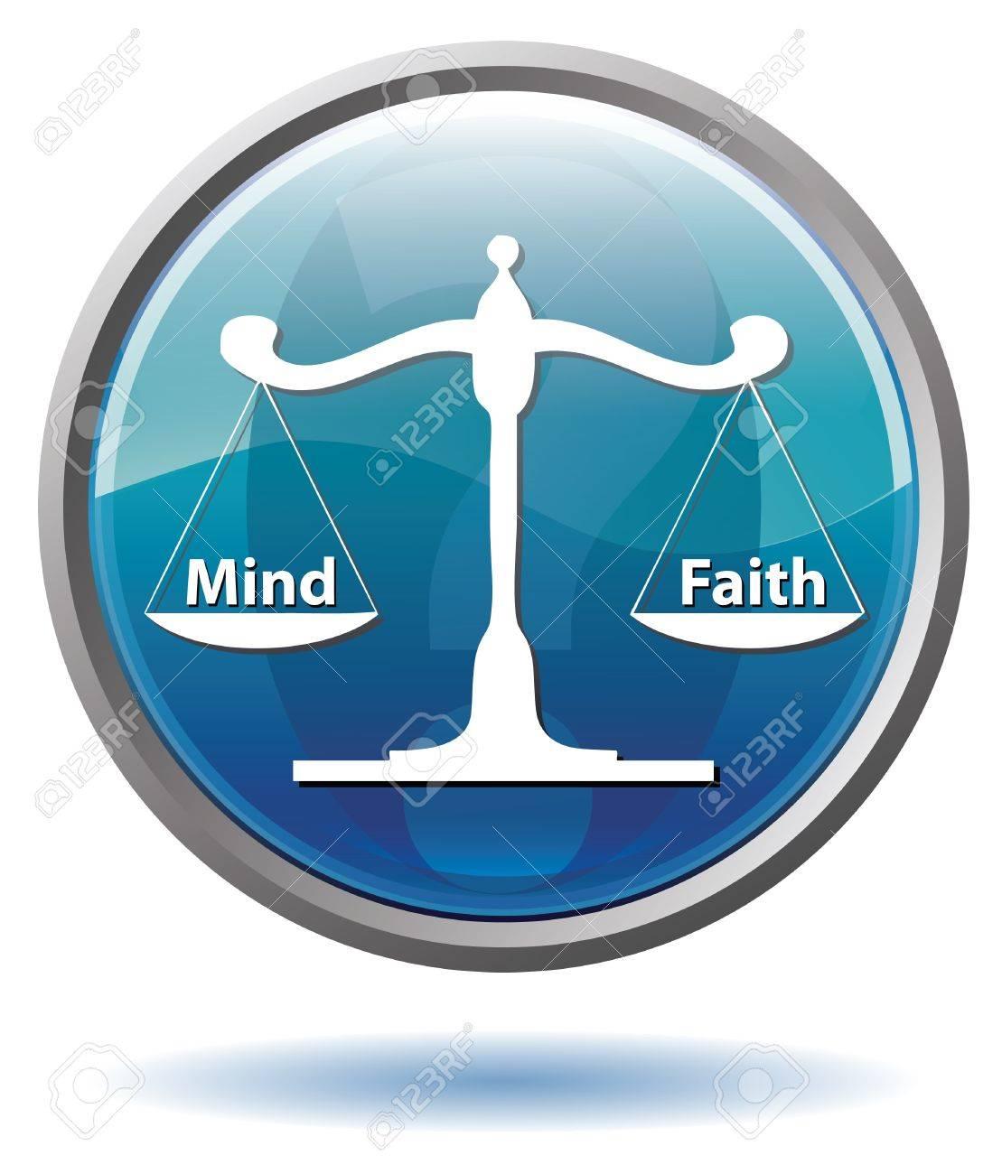 Mind or Faith button Stock Photo - 10127819
