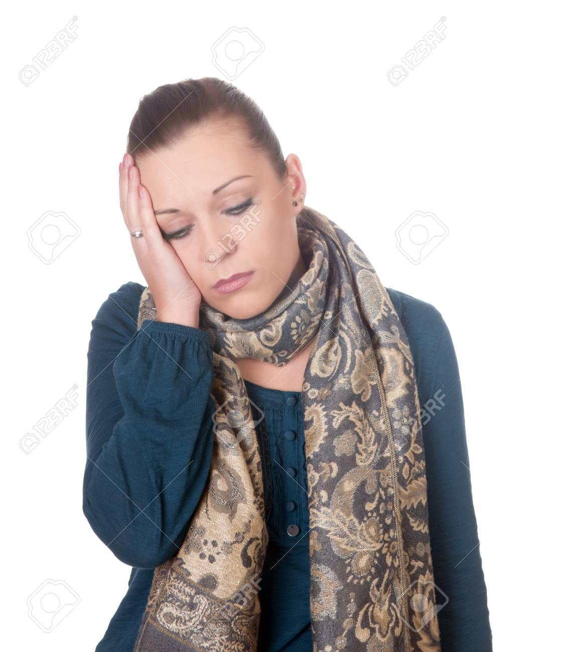 young women has headache Stock Photo - 11863699