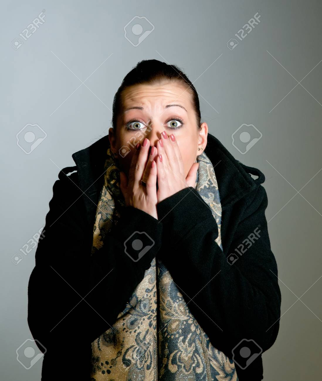 young woman is afraid Stock Photo - 11863707