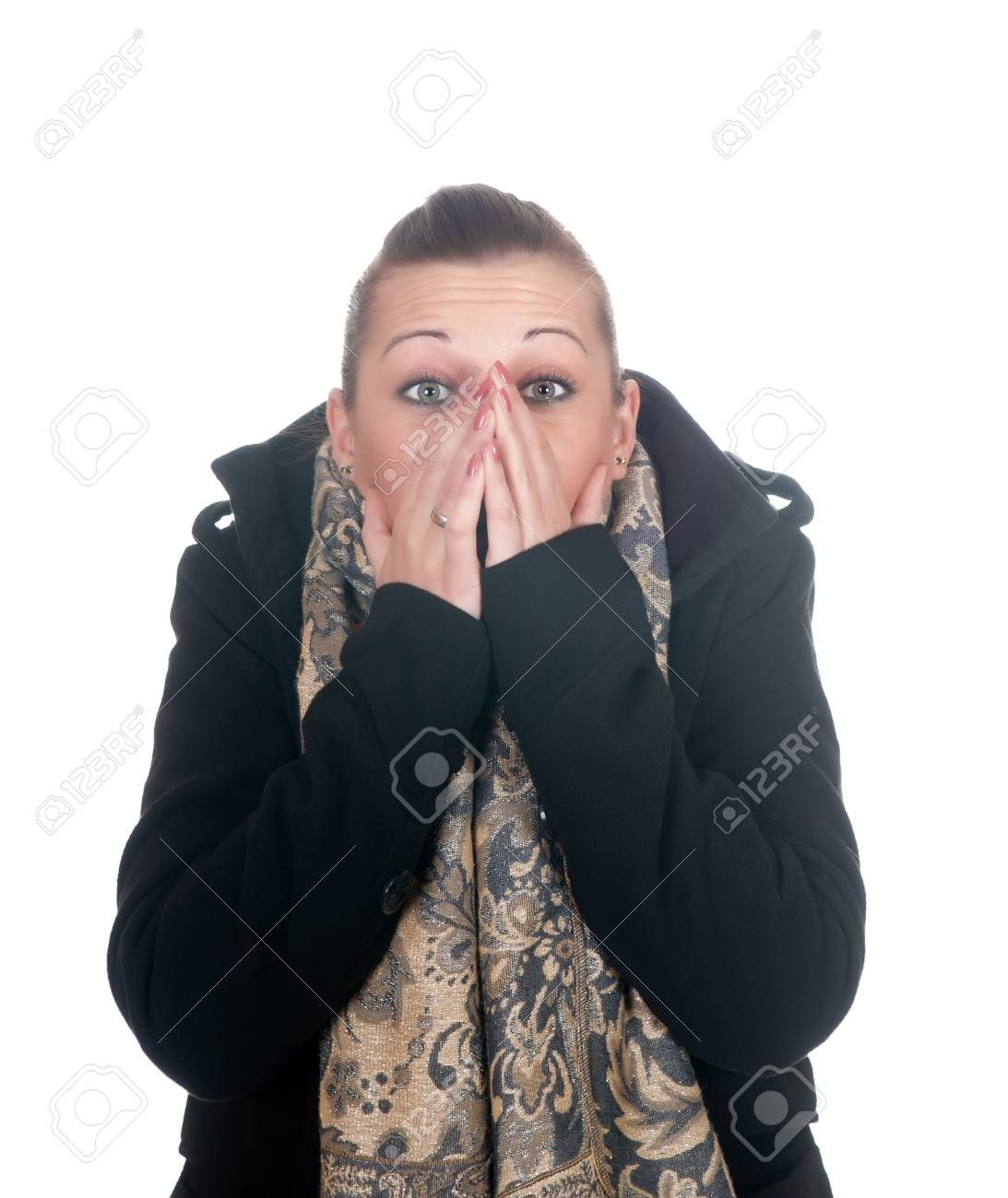young woman is afraid Stock Photo - 11863683