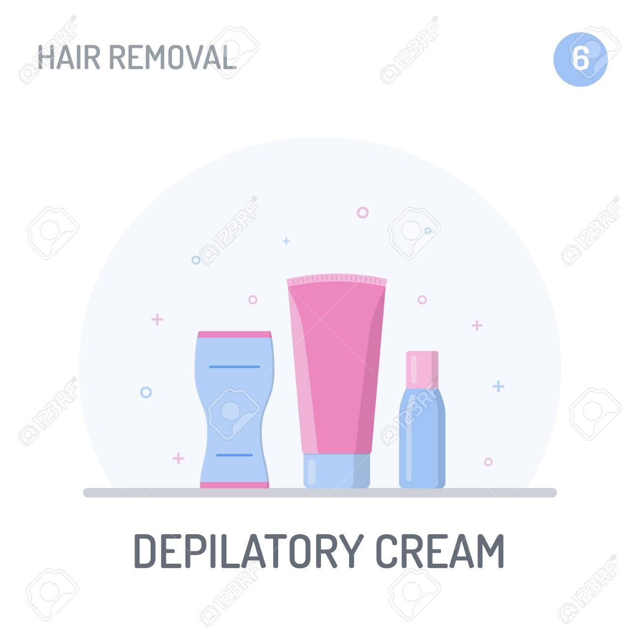Hair Removal Depilatory Cream Creams And A Spatula For Applying