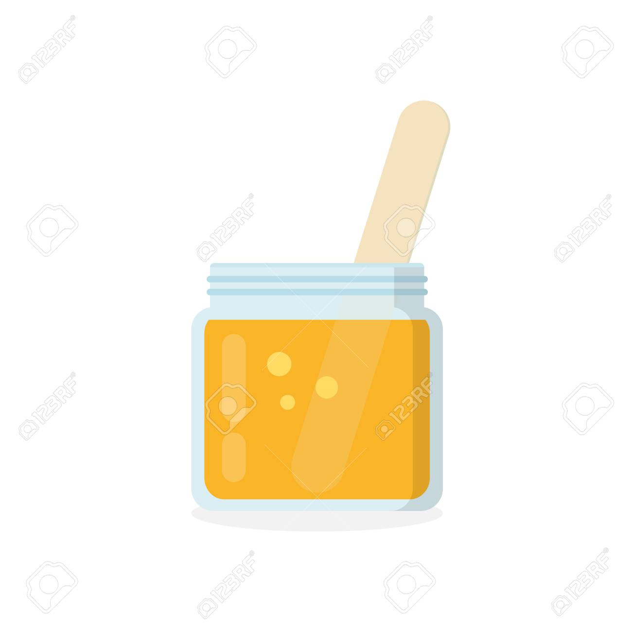 Glass Jar Of Wax With Stick Isolated On White Background Tools Royalty Free Cliparts Vectors And Stock Illustration Image 96829300