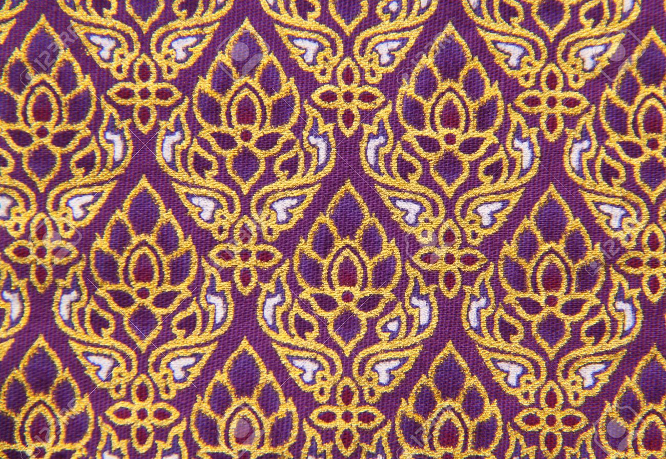 Pattern of Thailand native cloths, close up Stock Photo - 10517524