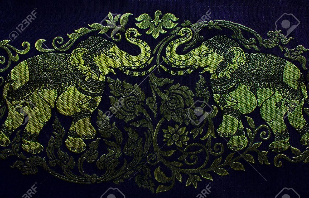Thai Elephant Pattern Elephant Embroidery Pattern