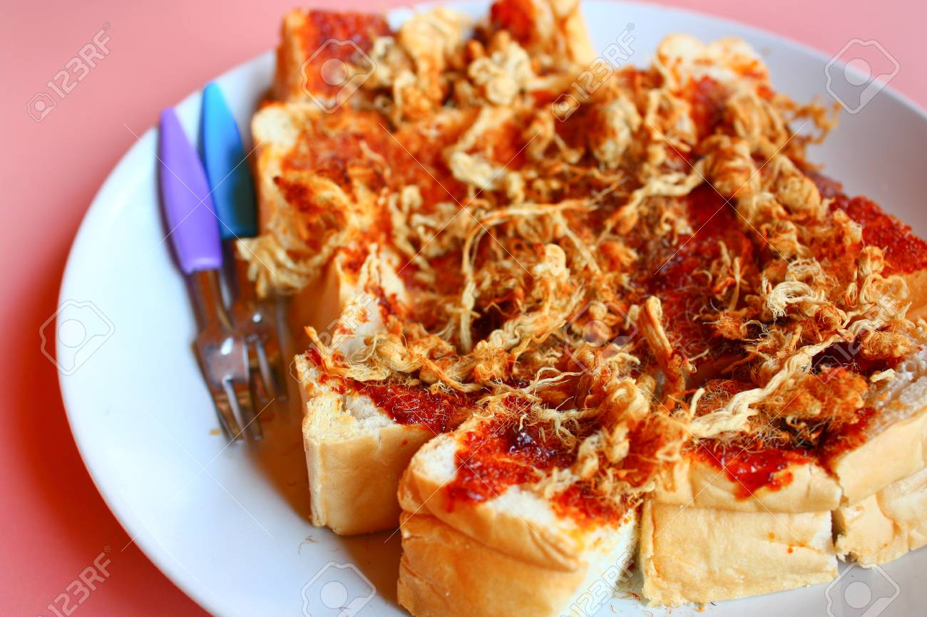 Toast shredded pork and chili paste style Thailand Stock Photo - 18141775