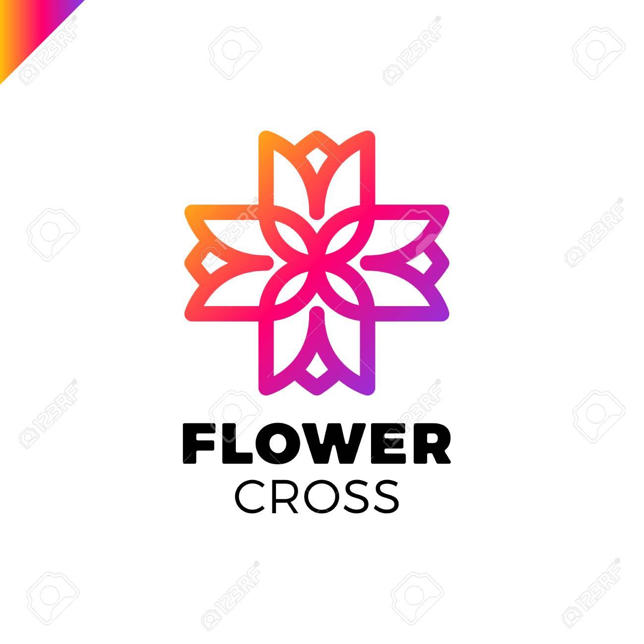 Aislado Resumen De Colores Color Vector Logo. Exposición Recibí ...