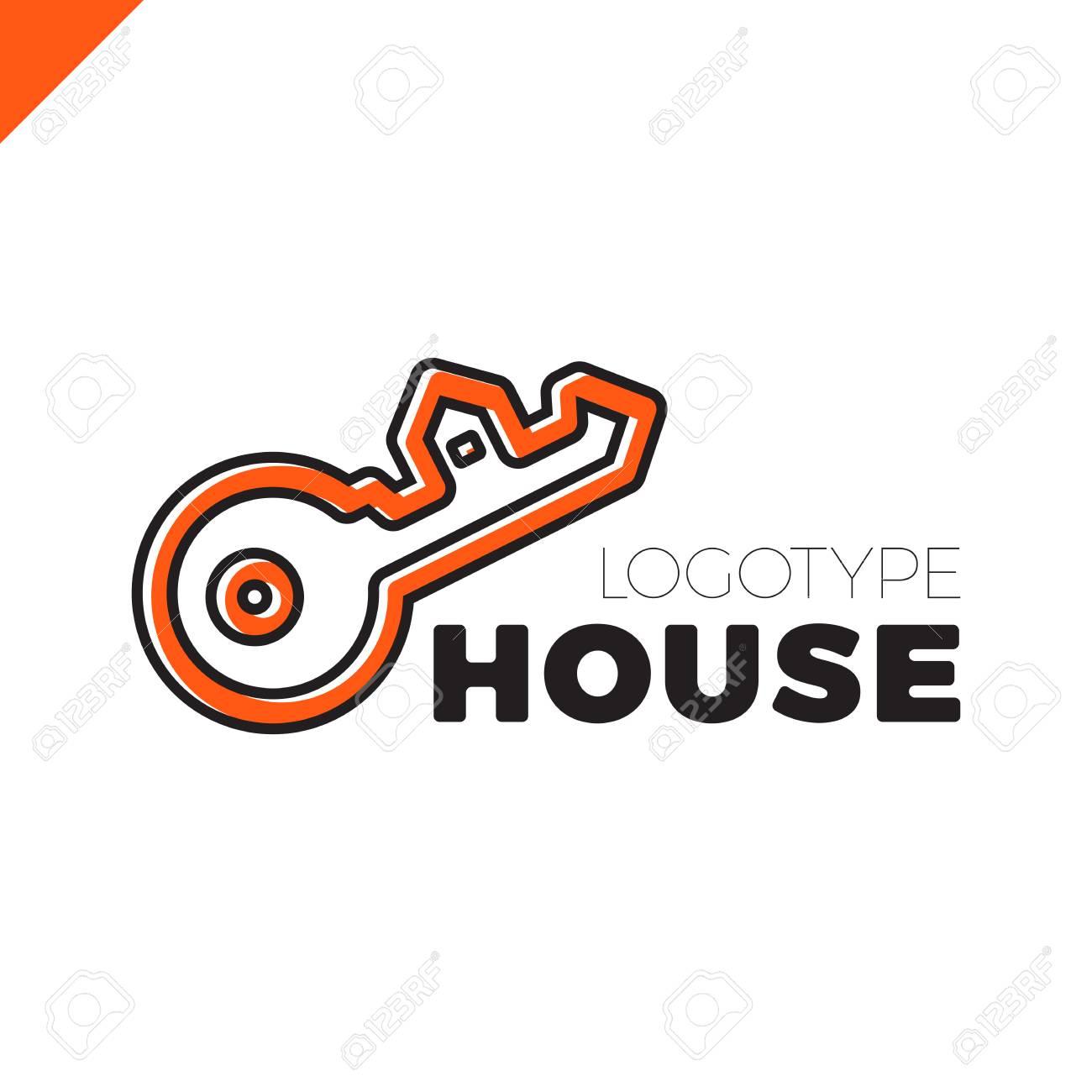 house key outline. home security key house logo outline design banque d\u0027images - 77950993 t