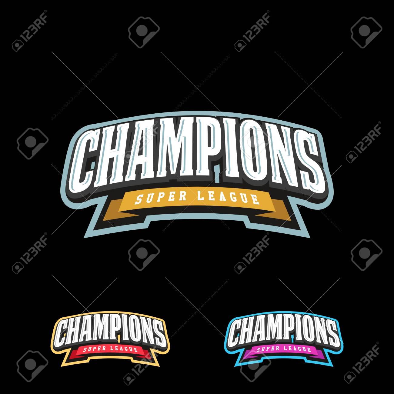 Champion sports league logo emblem badge graphic typography