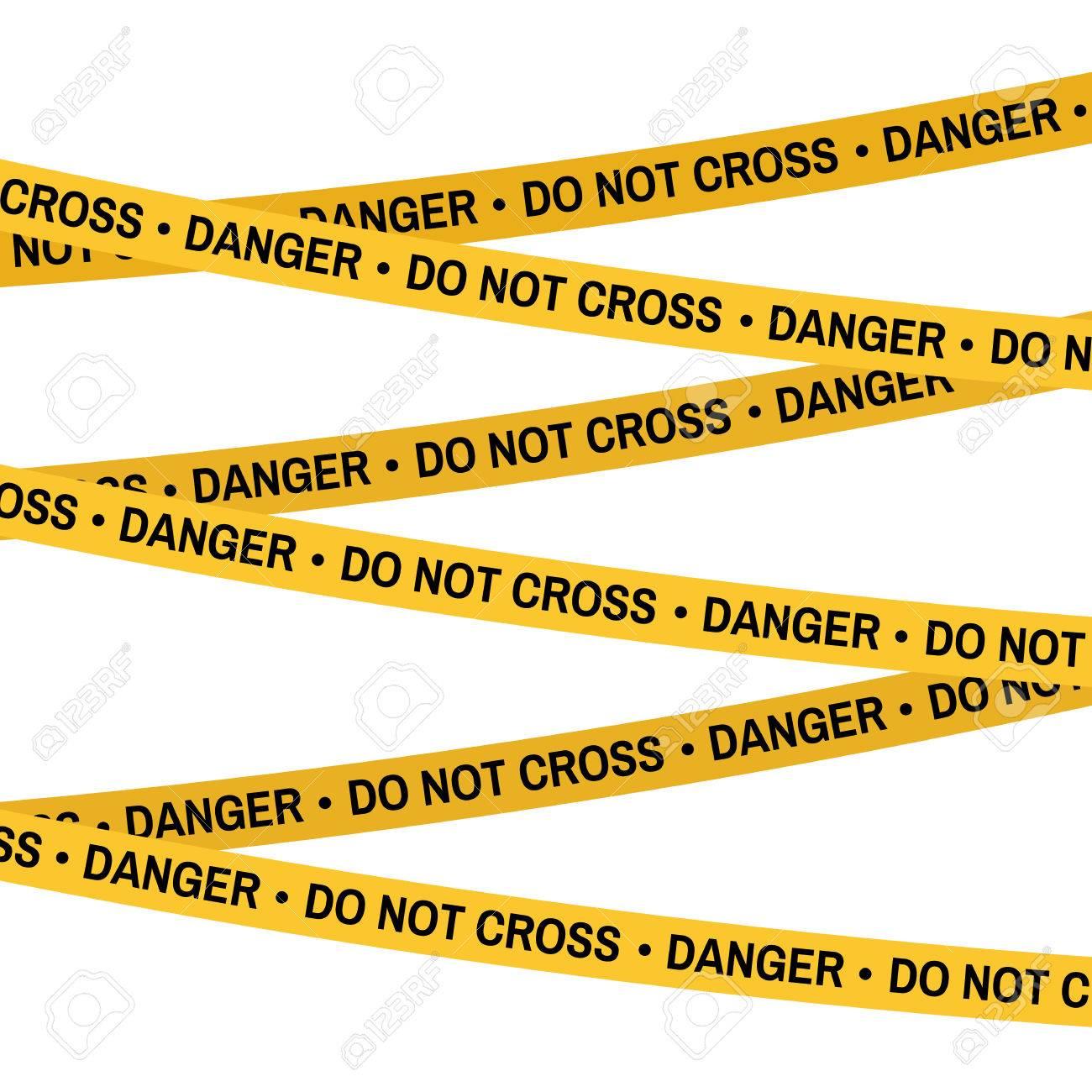 crime scene yellow tape police line do not cross tape cartoon