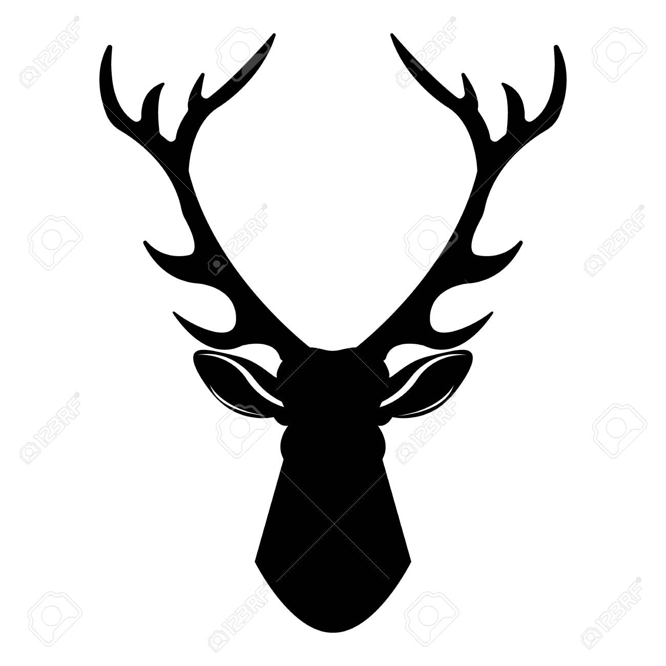 Deer head icon. Simple illustration of deer head vector icon for web design isolated on white background - 144490546