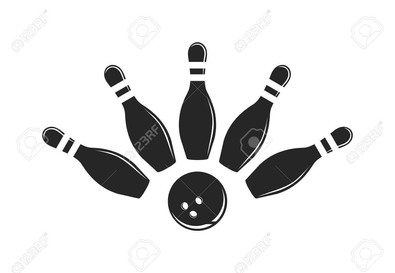 ロゴをボウリング ボウリングのロゴ エンブレム ロゴのデザイン要素を