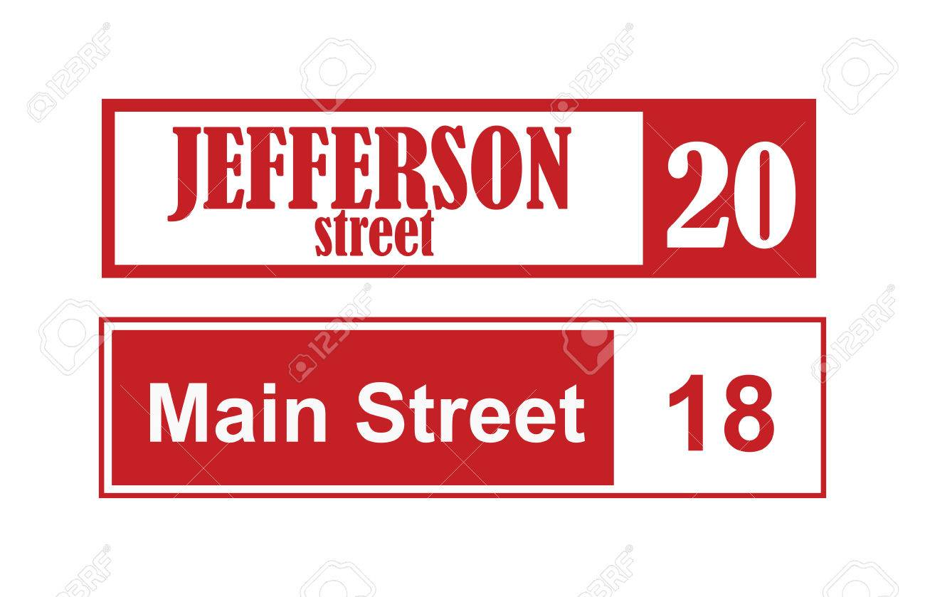 House Number Main Street And Vector Street Sign Frame House Number Plate Design Street Sign Wall Frame And Postel One Urban House Number Street