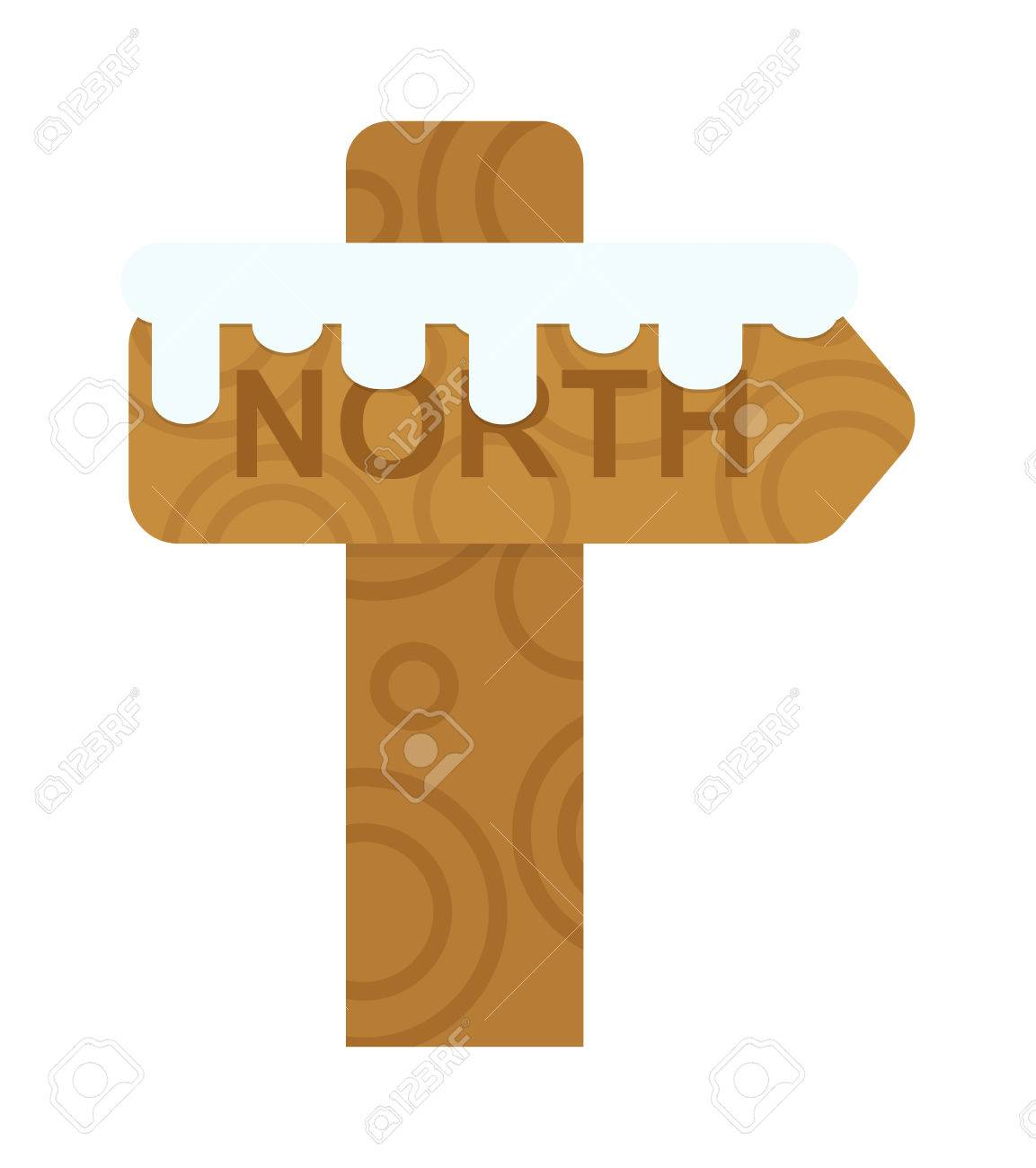 Wooden north sign post elements and vector north sign christmas wooden north sign post elements and vector north sign christmas arrow north sign direction arrow biocorpaavc
