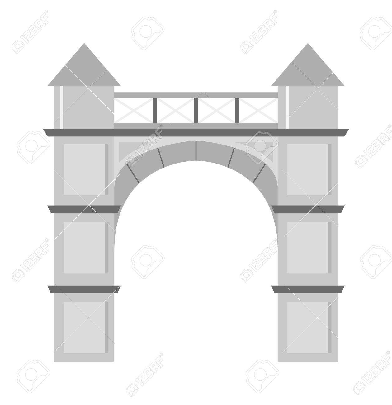 Arch Vector Icon Isolated And Architecture Ancient Frame Arch ...