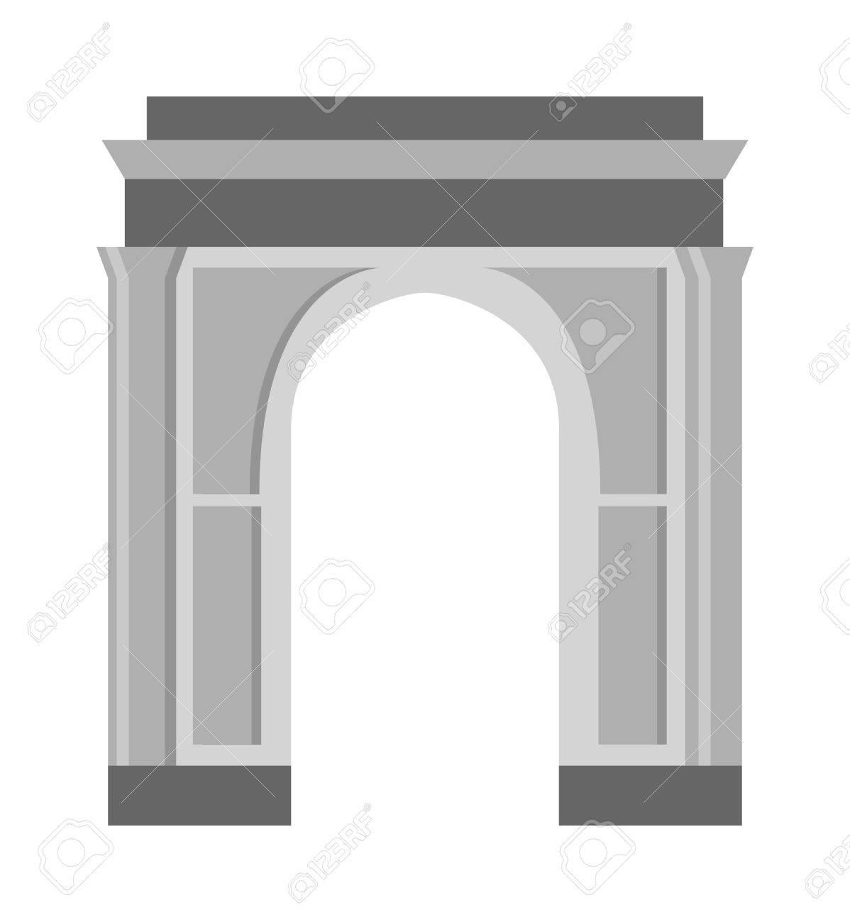Arco Del Icono Del Vector Aislado Y La Arquitectura Antigua Marco De ...