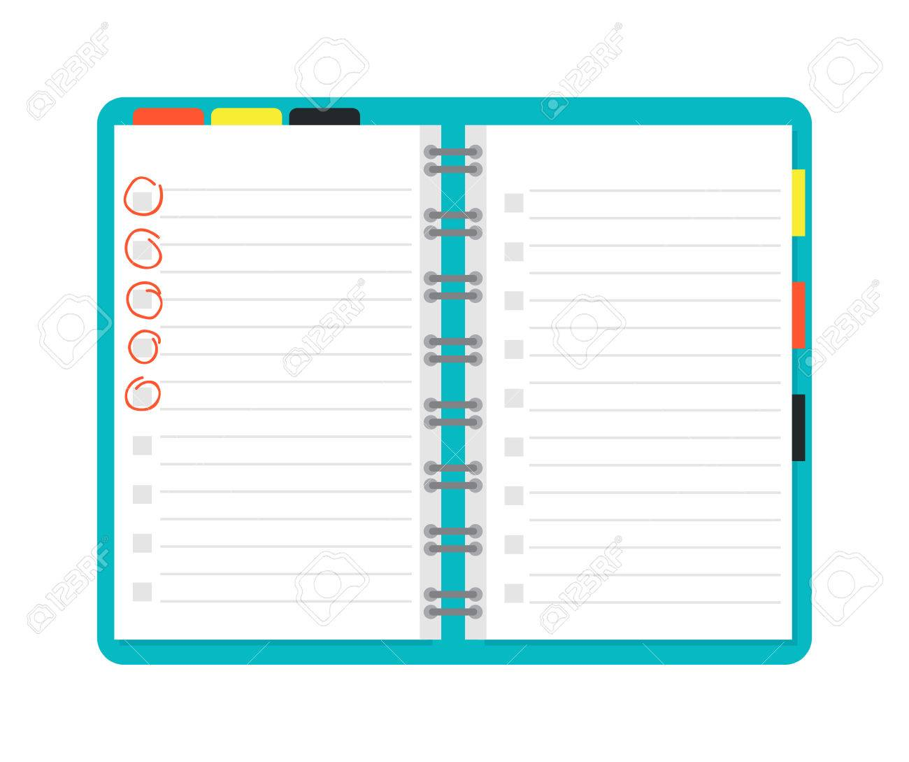 Opened notebook planner and white page open notebook vector opened notebook planner and white page open notebook vector illustration opened notepad book blank maxwellsz