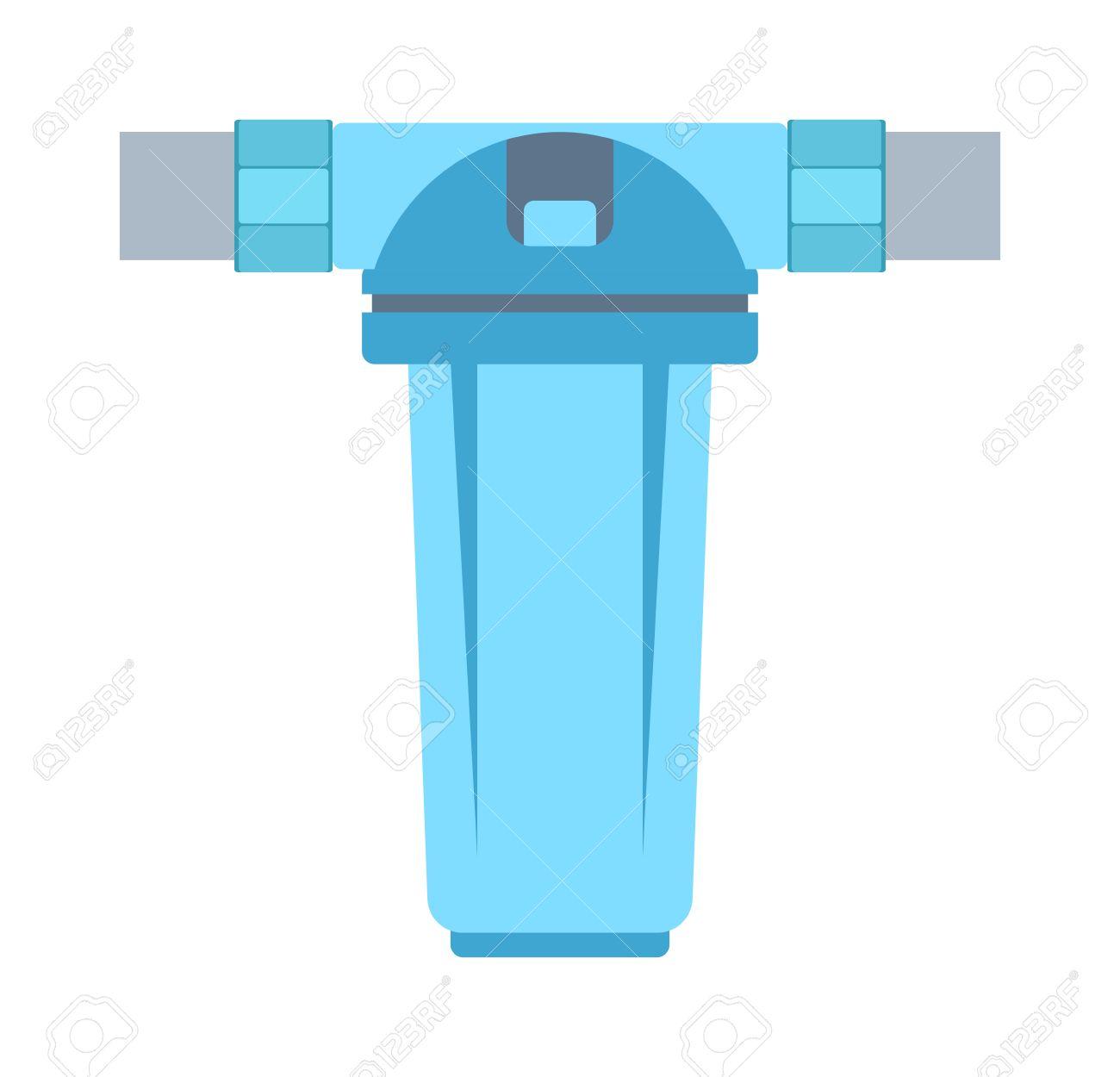 Große Wasserfilter Ihr Trinkwasser Isoliert Reinigen. Klare Frische ...