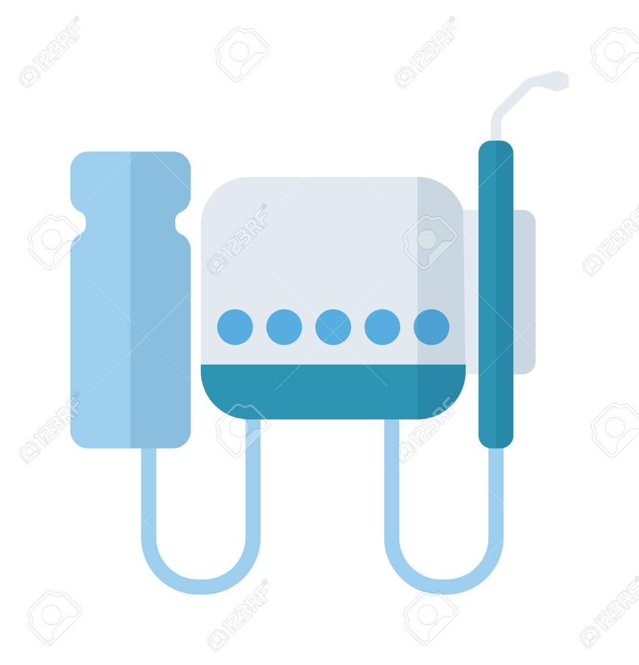 Dental Equipment Vector Illustration Dentist Medical Tool Treatment Hygiene Clinic Health Care