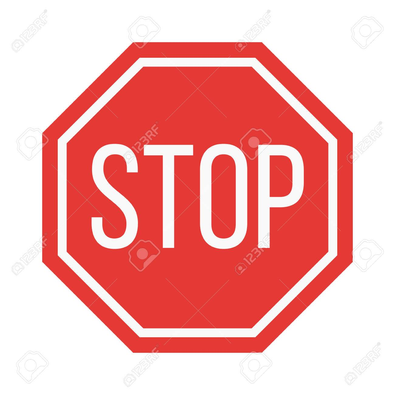 prohibition stop sign vector illustration warning danger symbol rh 123rf com stop sign vector file stop sign vector eps