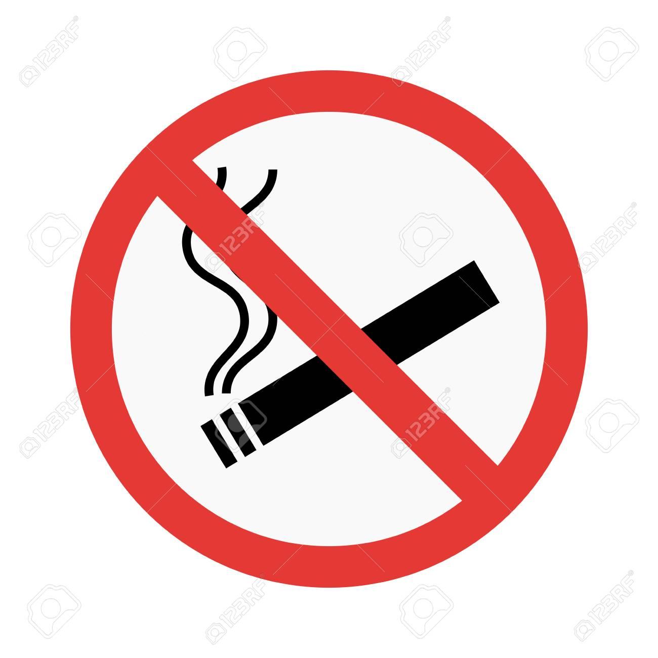 No smoke sign vector illustration - 59439423