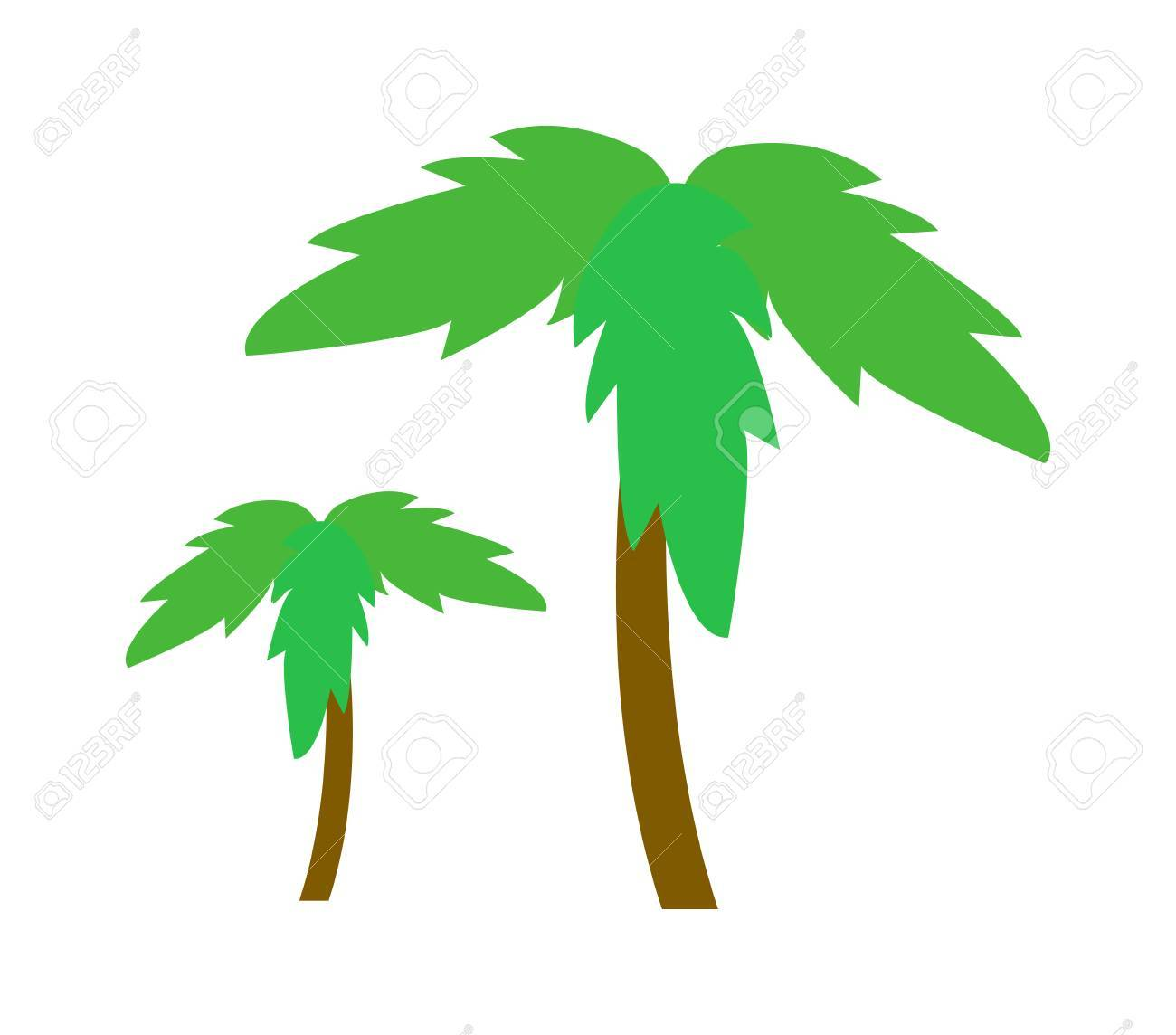 Green Coconut Palm Icon Isolated On White Background. Palm Icon ...