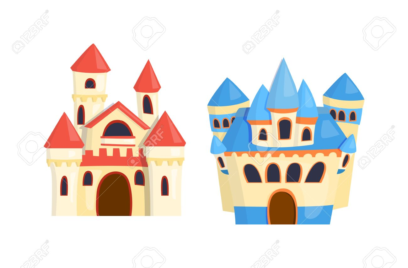 Cartoon Fairy Tour Du Chateau De Conte Icone Mignon Architecture De