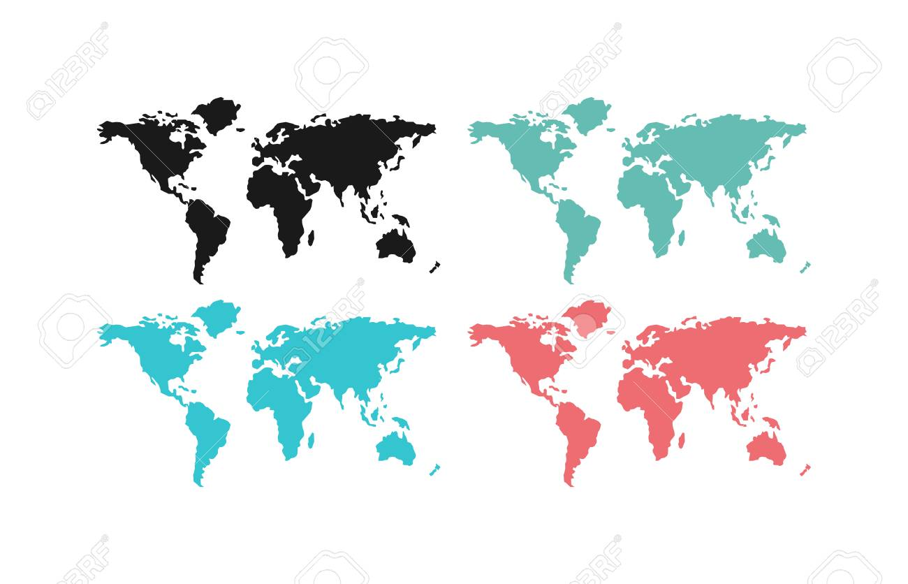 World map planet and world map global continents world map symbol vector world map planet and world map global continents world map symbol land ocean abstract silhouette earth map silhouette world map gumiabroncs