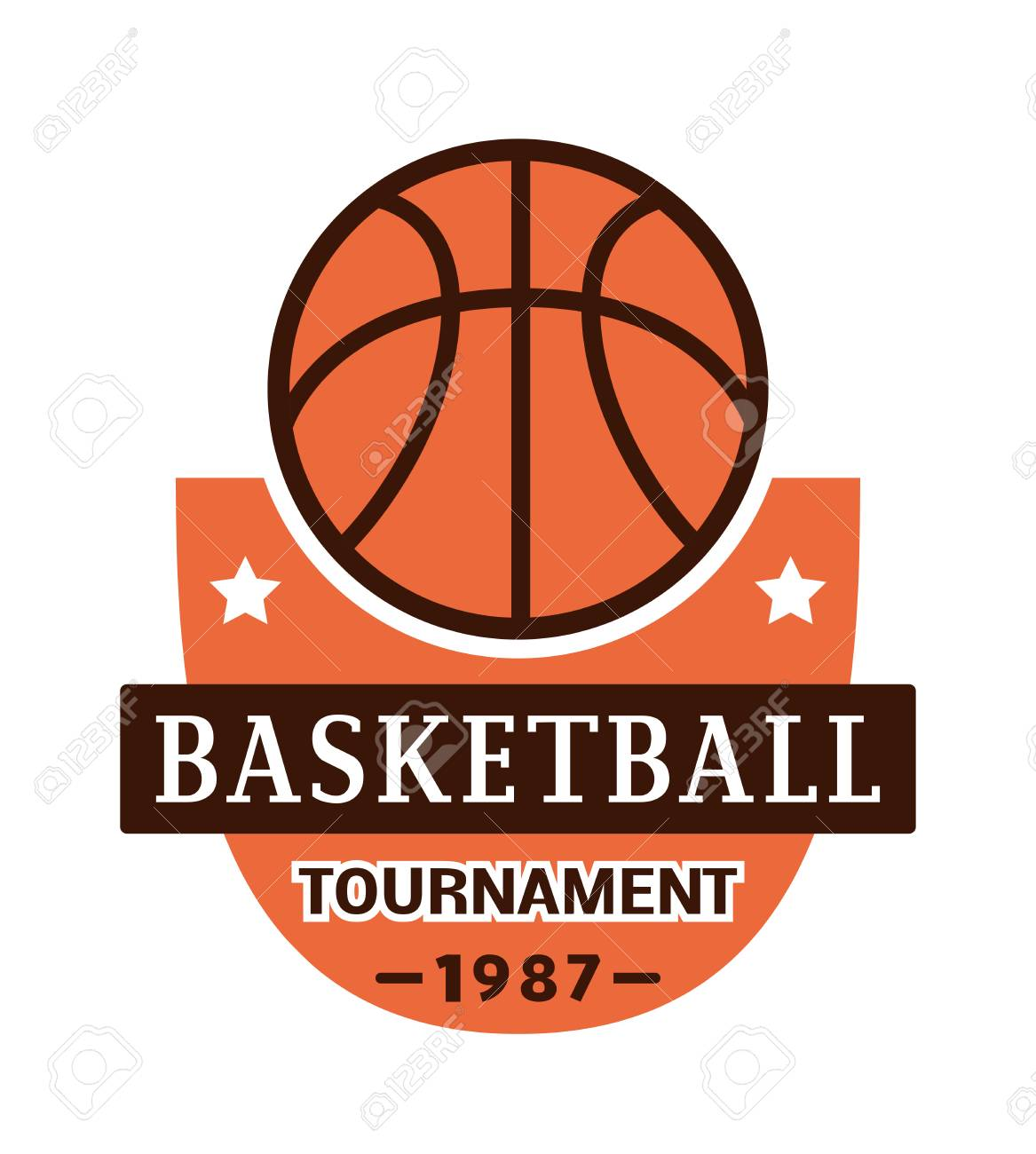Template for basketball sport team with sport sign and symbols template for basketball sport team with sport sign and symbols tournament competition graphic champion sport biocorpaavc Choice Image