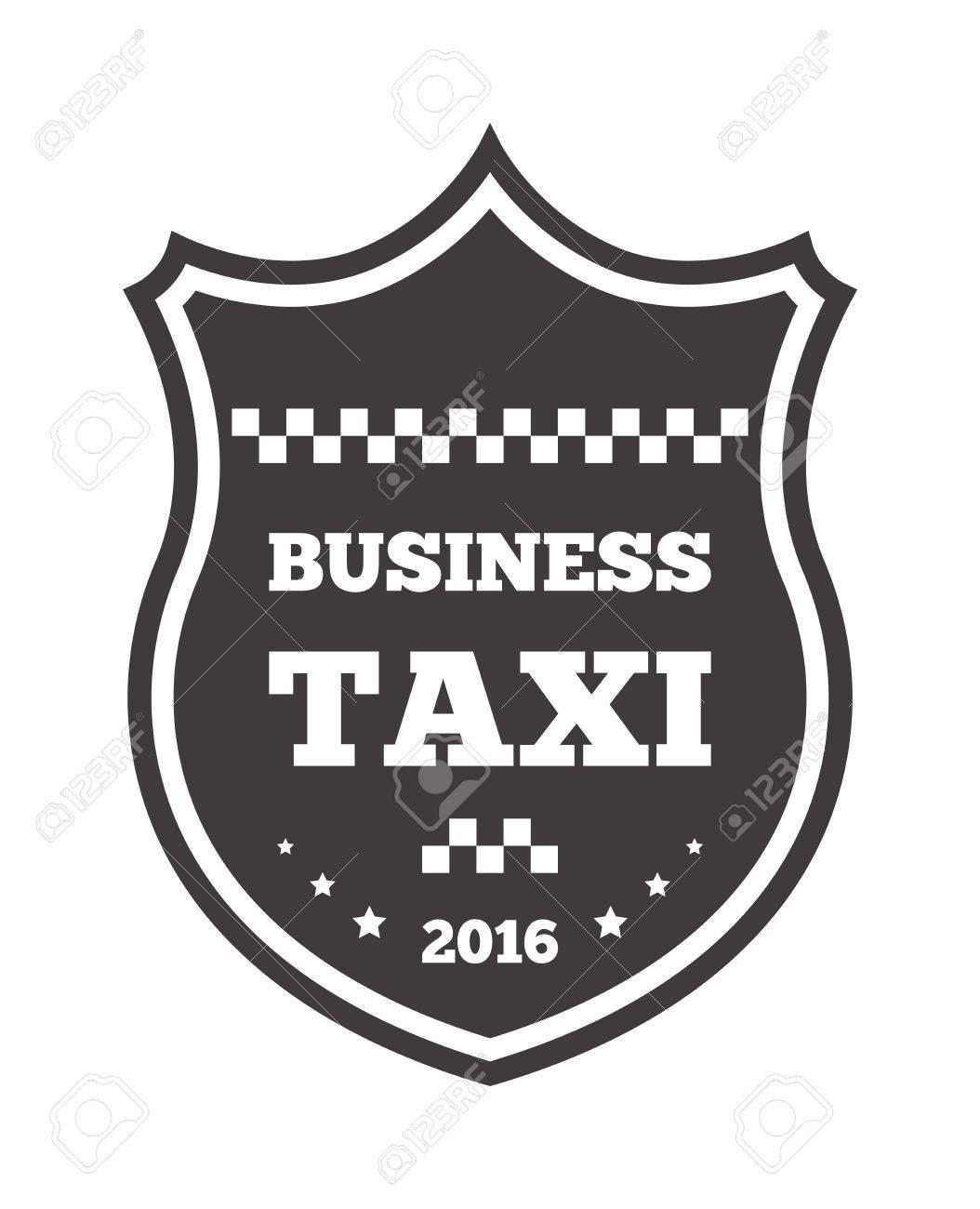 Weinlese Und Moderne Taxi Taxi Etikett, Taxi Abzeichen Und Design ...