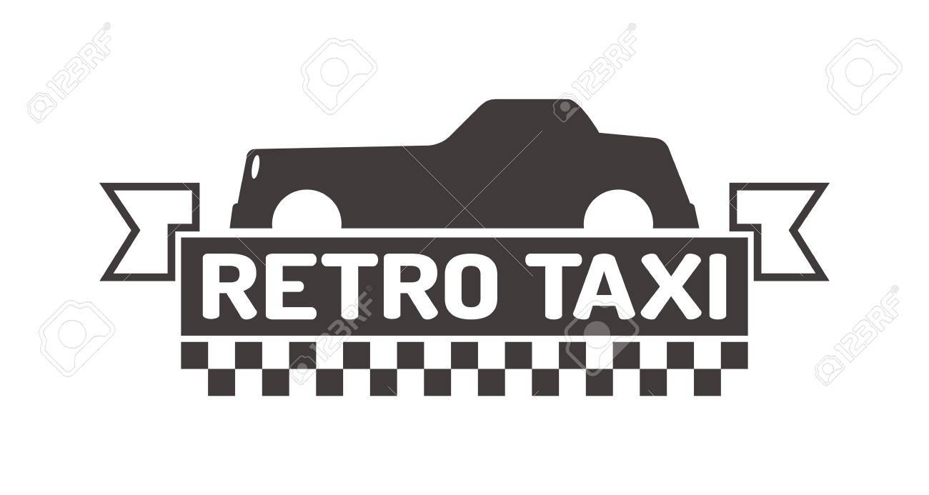 vintage and modern taxi label taxi badge and design elements