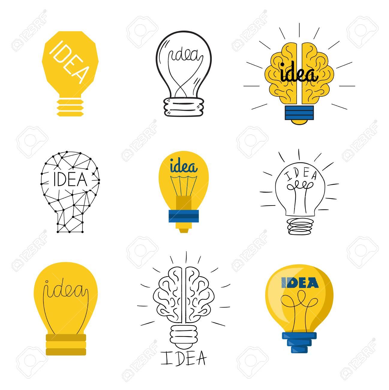 Gut Standard Bild   Zeichnung Idee Glühbirne Konzept Kreative Gestaltung.  Vector Idea Lampe Innovation Elektrische Kreativität Inspiration Konzept.  Helle Idee ...