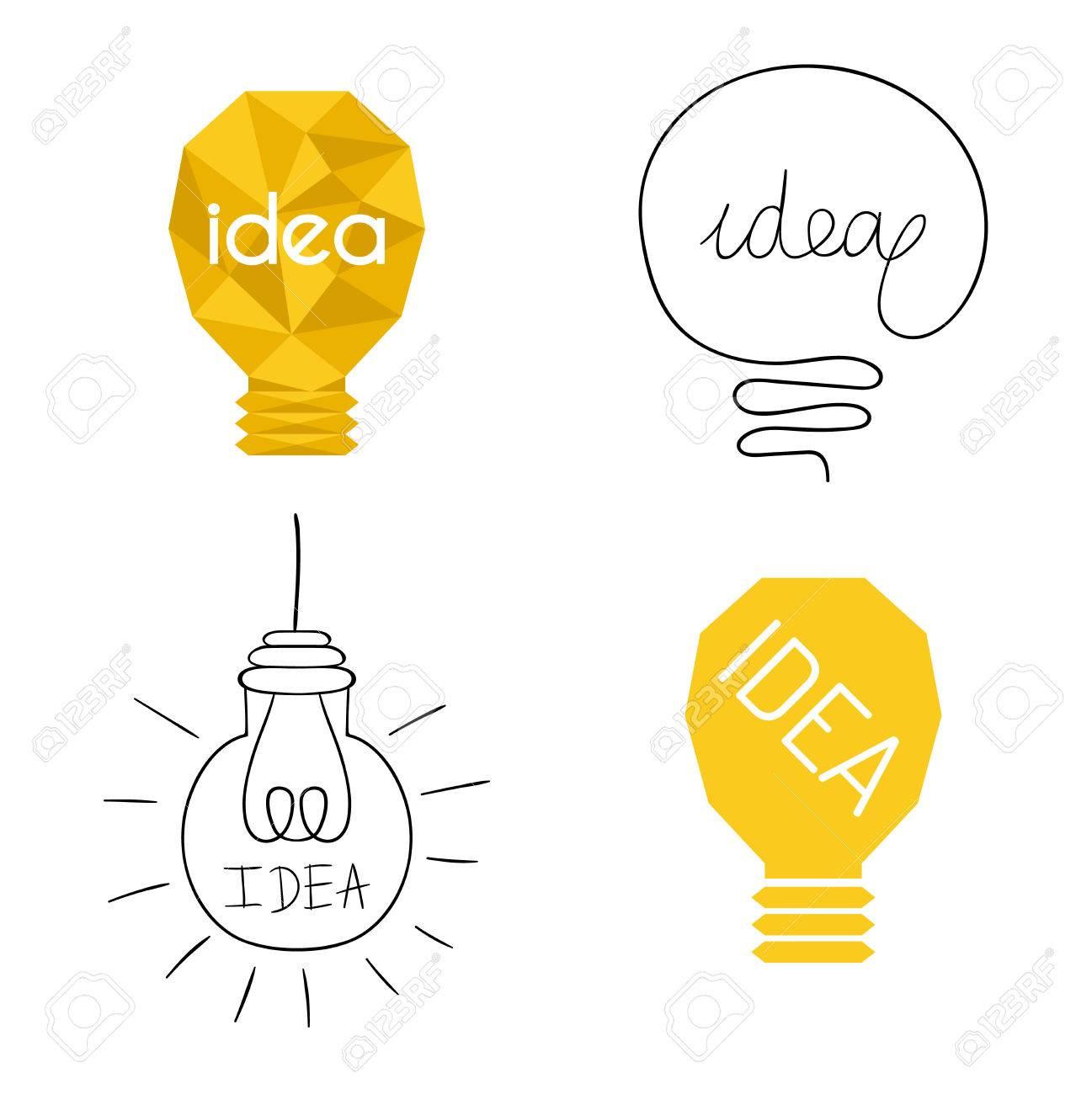Lieblich Standard Bild   Zeichnung Idee Glühbirne Konzept Kreative Gestaltung.  Vector Idea Lampe Innovation Elektrische Kreativität Inspiration Konzept.  Helle Idee ...