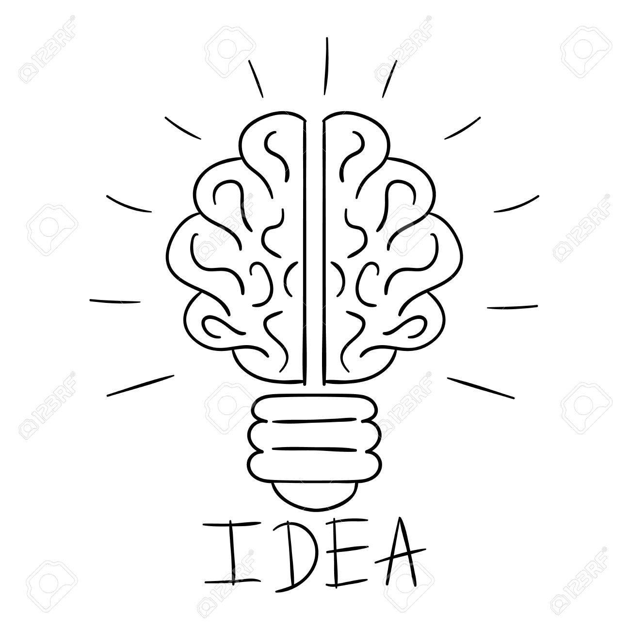 Schon Standard Bild Zeichnung Idee Glühbirne Konzept Kreative Gestaltung. Vector  Idea Lampe Innovation Elektrische Kreativität Inspiration