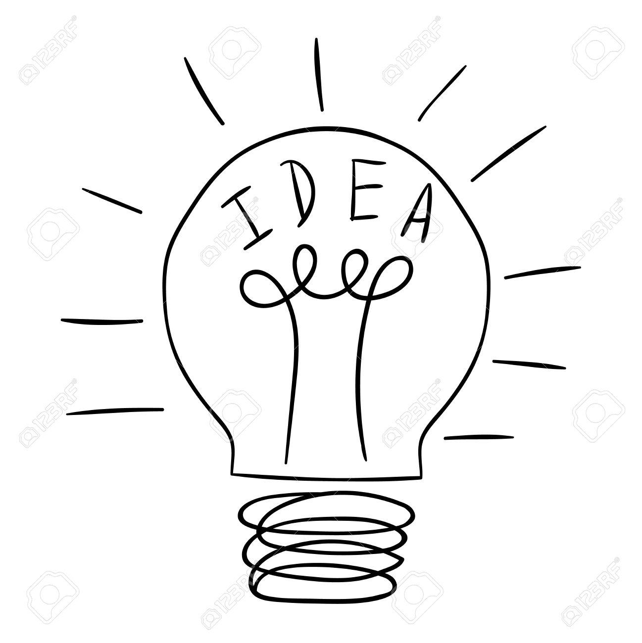 Attraktiv Standard Bild   Zeichnung Idee Glühbirne Konzept Kreative Gestaltung.  Vector Idea Lampe Innovation Elektrische Kreativität Inspiration Konzept.  Helle Idee ...