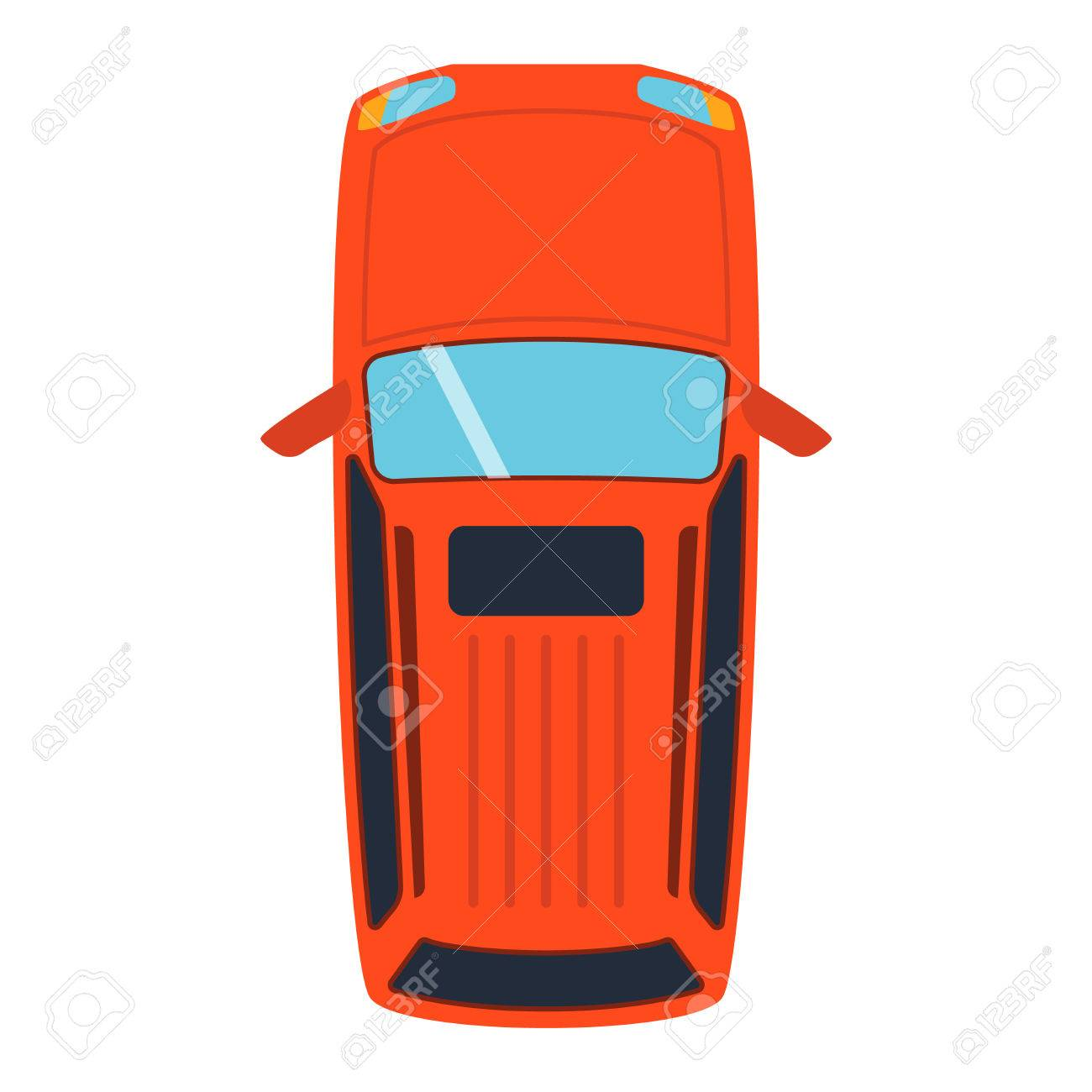 Vector Car Vehicle Icon Top View From Above Car Top View Some