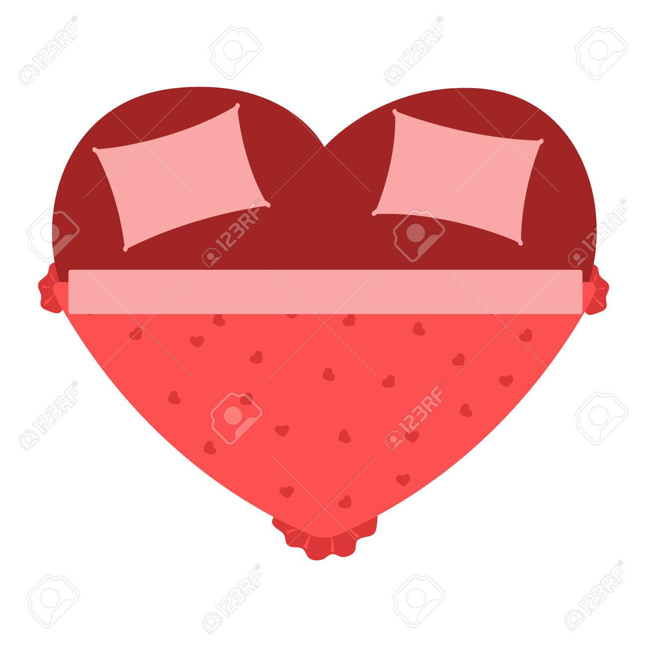 Vector Heart Bed Icon Interior Home Rest Bed Vector Sleep  # Bedtime Muebles