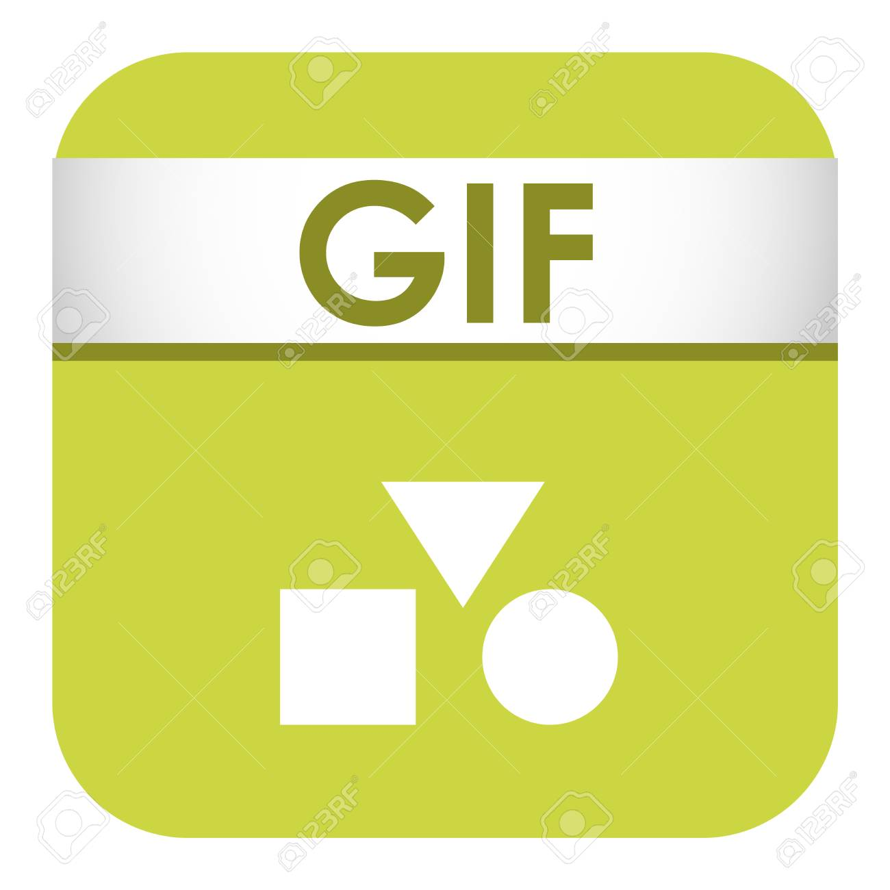 Simple Vector Square File Type And Format Label Icon File Type