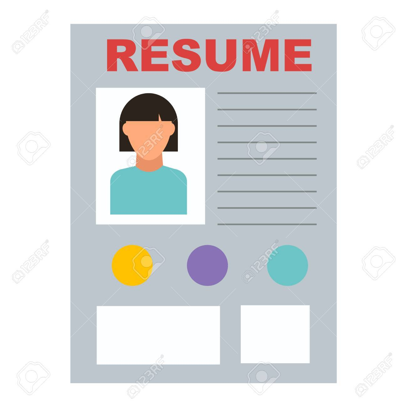 Resume Icon Work Job Office Symbol Document Design Contract