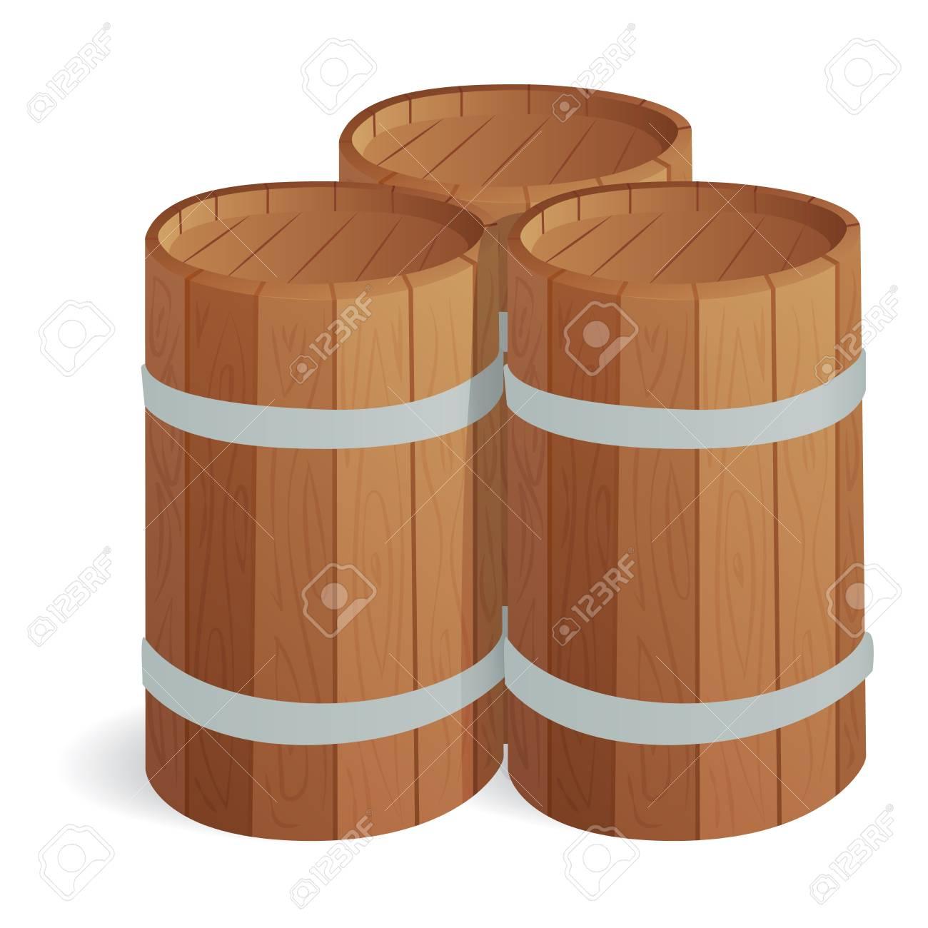 storage oak wine barrels. Vector - Wooden Barrel Vintage Old Style Barrels Oak Storage Container. Wine E
